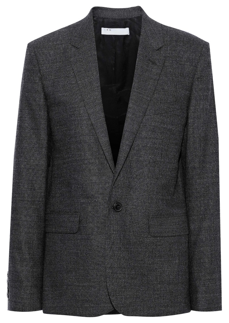 Iro Woman Vilato Wool-blend Blazer Dark Gray