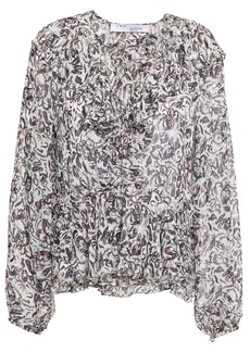 Iro Woman Voodoo Ruffled Printed Georgette Blouse White