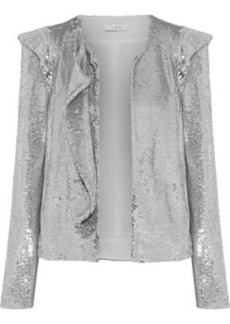 Iro Woman Waklyn Sequined Woven Jacket Silver