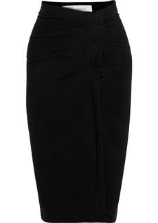 Iro Woman Wilber Pleated Stretch-cotton Jersey Skirt Black