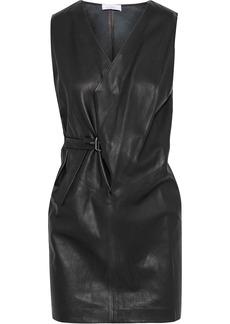 Iro Woman Willer Buckled Leather Mini Dress Black