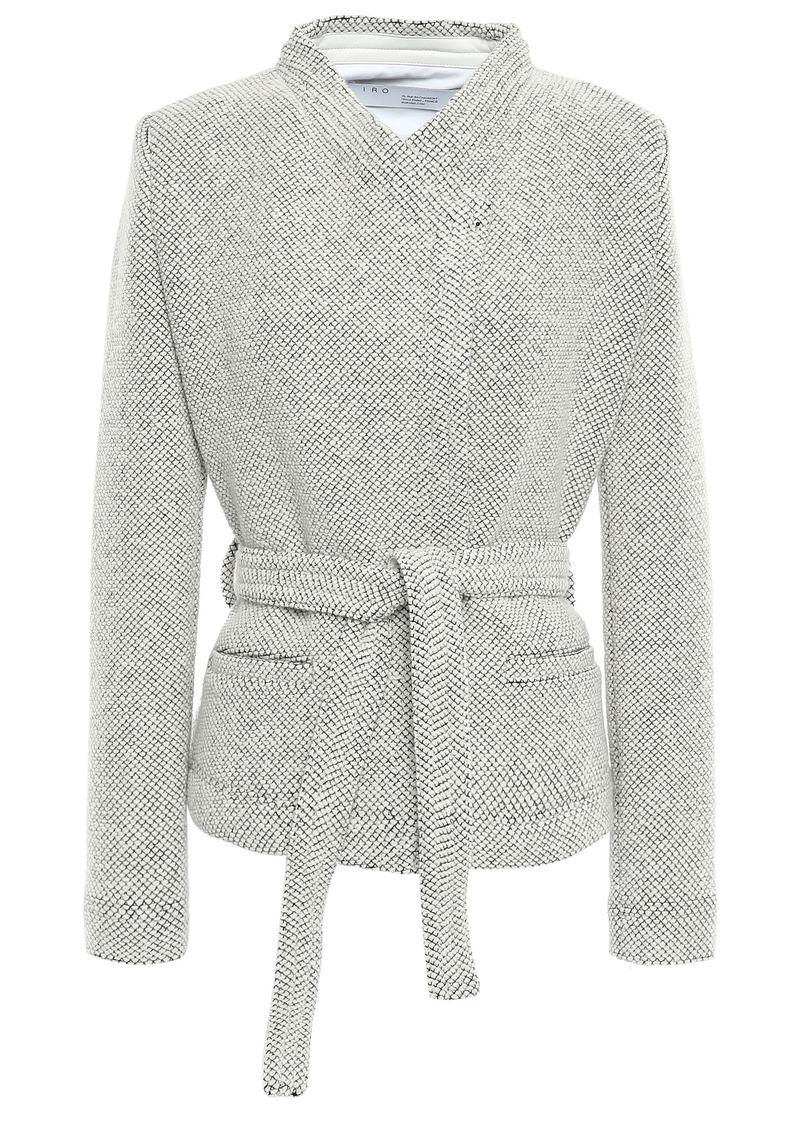 Iro Woman Wool-blend Jacquard Blazer Ecru