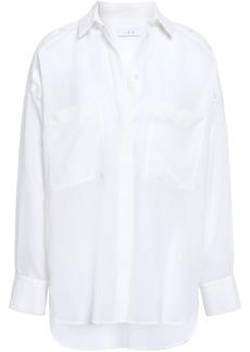 Iro Woman Bocka Button-detailed Wool-gauze Shirt White