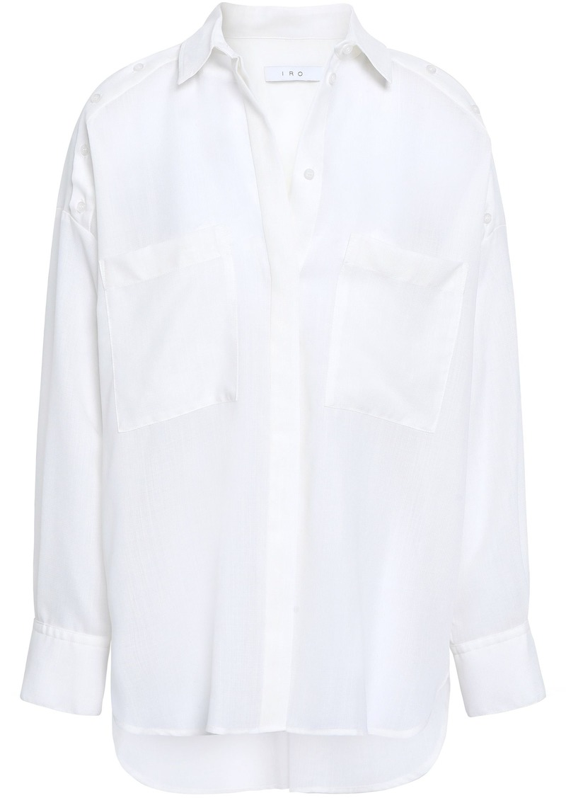 Iro Woman Bocka Button-detailed Wool-gauze Shirt White