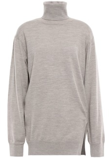 Iro Woman Wool Turtleneck Sweater Taupe