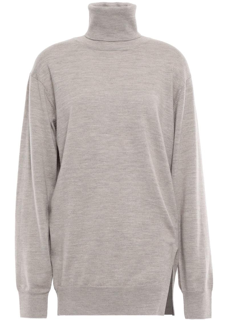 Iro Woman Wool Turtleneck Sweater Taupe