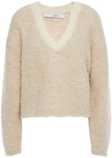 Iro Woman Yates Copped Alpaca-blend Bouclé Sweater Beige