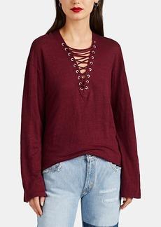 IRO Women's Alety Lace-Up Linen T-Shirt