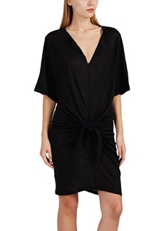 IRO Women's Arwen Linen Slub-Knit Knotted T-Shirt Dress