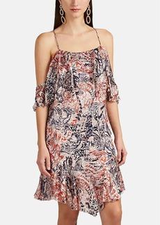 IRO Women's Beverley Mixed-Pattern Fil Coupé Dress