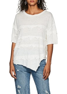 IRO Women's Birtie Distressed Linen T-Shirt
