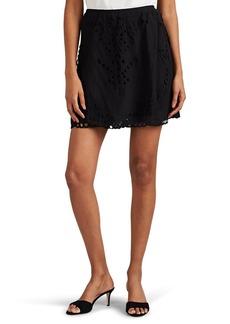 IRO Women's Carina Eyelet Voile Miniskirt