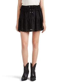 IRO Women's Carmel Burnout Georgette Miniskirt