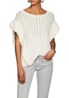 IRO Women's Dafgan Ruffle Alpaca-Blend Sweater