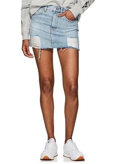 IRO Women's Gioh Distressed Denim Miniskirt