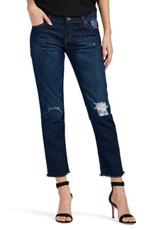 IRO Women's Kalou Distressed Stretch-Cotton Crop Jeans