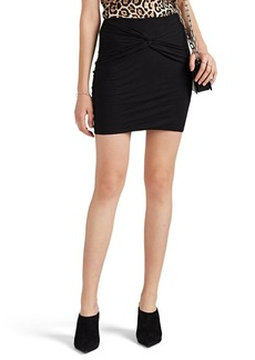 IRO Women's Pod Knotted Cotton-Blend Miniskirt