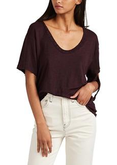 IRO Women's Pretaspe Distressed Linen T-Shirt