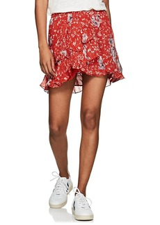 IRO Women's Vanila Floral Georgette Miniskirt