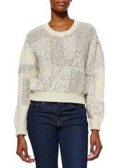 Iro Yoav Mixed-Knit Cropped Sweater