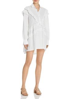 IRO.JEANS Juliet Ruffle Shirt Dress