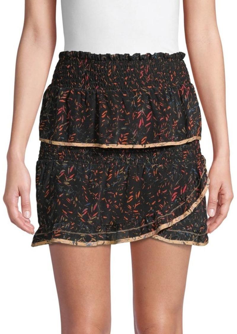 IRO Jully Tiered Ruffle Mini Skirt