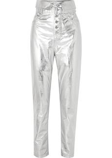 IRO Key Metallic Leather Tapered Pants
