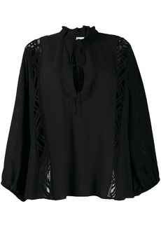 IRO lace panel blouse
