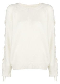 IRO lace up sleeve jumper