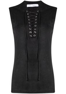 IRO lace-up sleeveless top