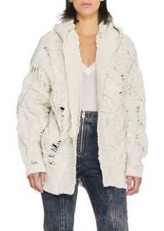 IRO Lack Chunky Hooded Cable Cardigan