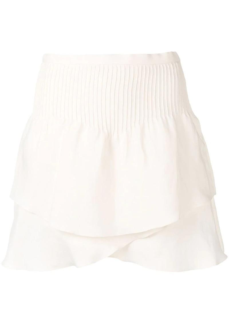 IRO layered A-line skirt