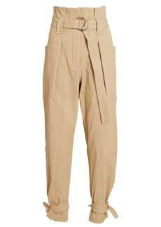 IRO Limest Belted Paperbag Leather Pants