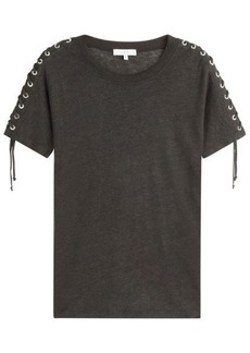 IRO Linen T-Shirt with Lace-Up Sides