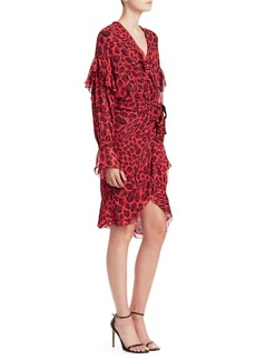 IRO Link Leopard-Print Wrap Dress