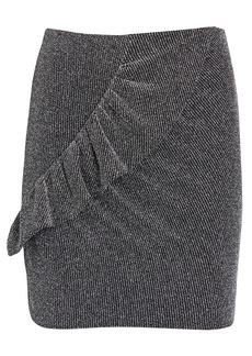 IRO Lisko Ruffled Lurex Mini Skirt