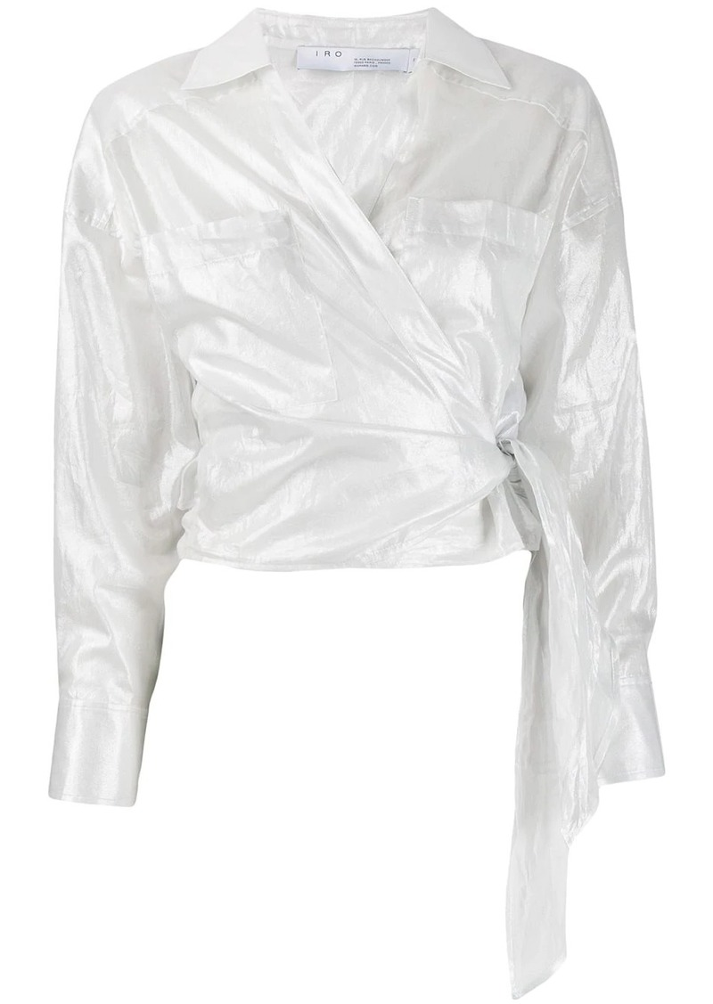 IRO long-sleeve wrap blouse