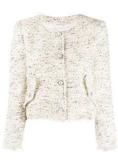 IRO long sleeved fitted bouclé jacket