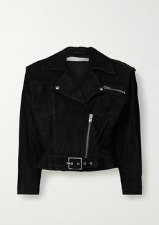 IRO Lonzo Cropped Suede Biker Jacket