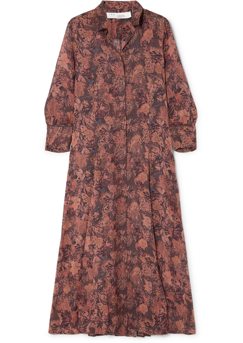 IRO Maddie Printed Chiffon Robe And Mini Dress