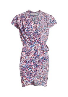 IRO Manza Print Mini Wrap Dress