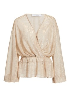 IRO Maryle Metallic Wrap Top