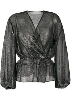 IRO Maryle semi-sheer wrap blouse