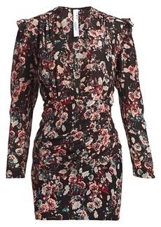 IRO Merca Long-Sleeve Silk Mini Dress