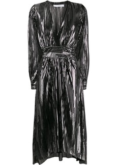 IRO metallic striped midi dress