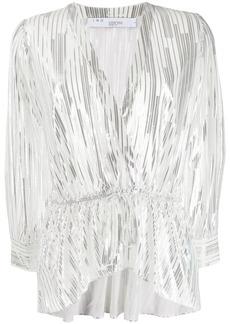 IRO metallic stripes blouse