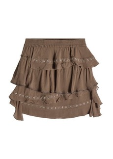 IRO Mini Skirt with Eyelets