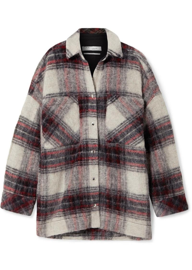 IRO Minksy Oversized Checked Felt Jacket