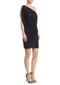 IRO Moon One-Shoulder Leopard Dress