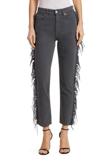 IRO Movement Fringe-Trimmed Cropped Jeans